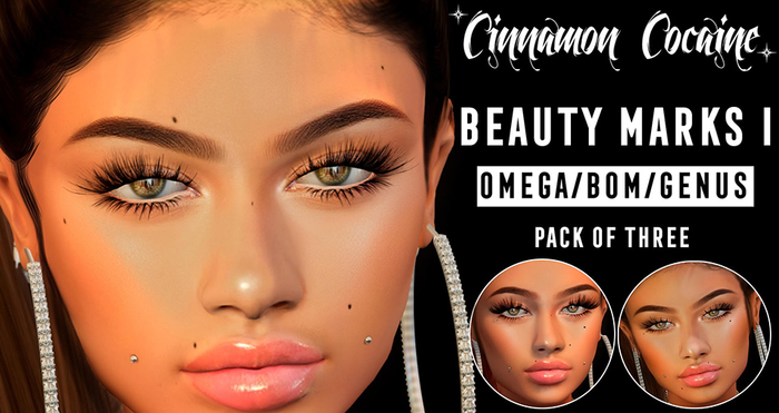 [Cinnamon Cocaine] Beauty Marks Pack I (add & touch) V.1