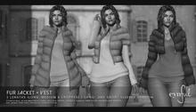 Cynful Fur Jacket +  Vest - Demo   [Maitreya Lara, Belleza Freya, Slink (HG), Legacy