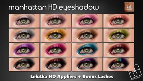 *Booty's Beauty* [Lelutka Evolution] Manhattan Eyeshadow