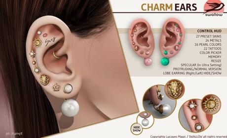 ^^Swallow^^ Charm Ears (Wear)