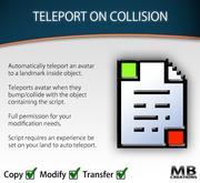 Auto Teleport On Collision Script