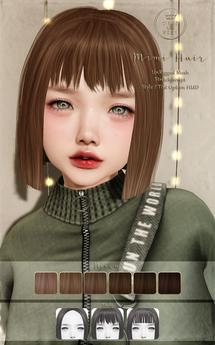 ::C'est la vie !:: Mimi Hair [Brown] / 6 Hair colors Change / 3 Style / Tint Option