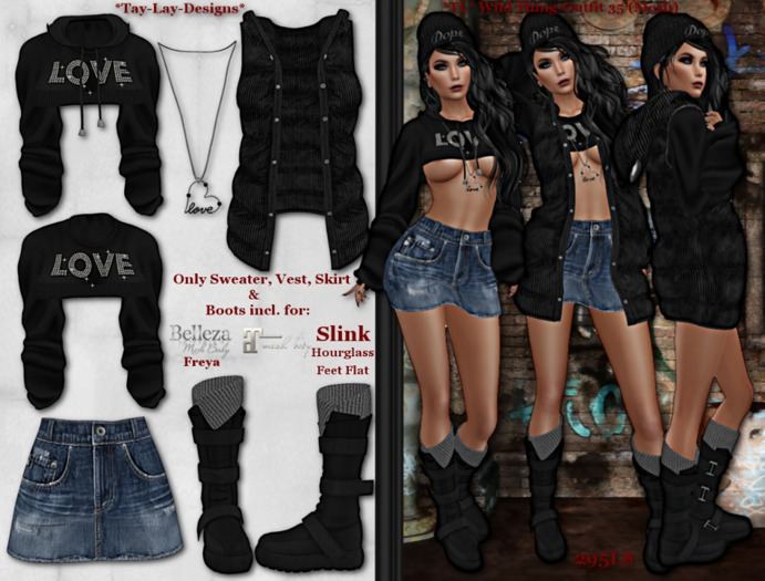 *Tay-Lay-Designs* Wild Thing-Outfit 35 (Mesh)