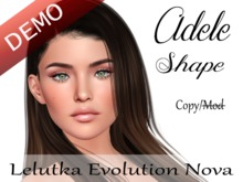 "Adele Shape ""Lelutka Evolution Nova Head"" Demo"