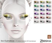 Zibska ~ Sovi Eyemakeup in 18 colors for Lelutka HD