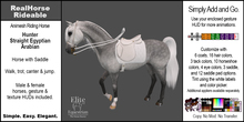 *E* RealHorse Rideable - Arabian Hunter [Add & Click]