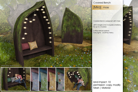 Sway's [Mira] Covered Bench . Moss