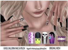 {WitchCraft} Ghoul Bento Ballerina Nails