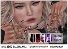 {WitchCraft} Spell Bento Ballerina Nails & Polish