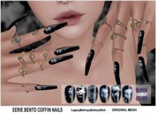 {WitchCraft} Eerie Bento Coffin Nails