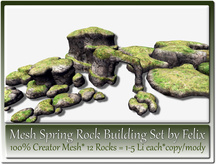 Mesh Spring Rock Building Set by Felix 12x copy-mody