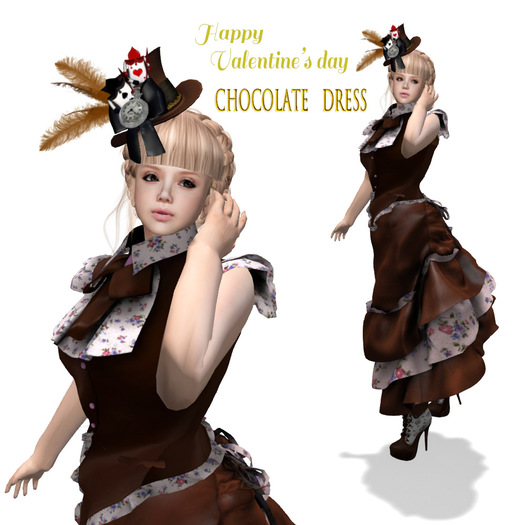 Valentine's day / Chocolate Dress, Boots & Hat
