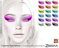 Zibska ~ Cayenne Eyemakeup in 18 colors for Lelutka HD