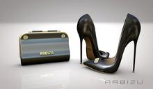ARBIZU Clutch n Heels *BLACK* *Marbella* 2020