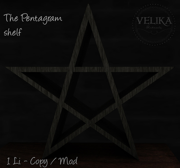 Velika Rituals - Pentagram shelf