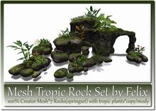 Mesh Tropic Rock Set by Felix 7 Shape(springrock+plants) c-m