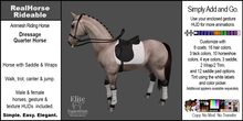 *E* RealHorse Rideable - Quarter Horse Dressage  [Add & Click]