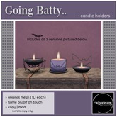 Widdershins - Going Batty Candle Holders