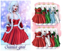 MAAI Santa girl dress & gloves * HUD * Maitreya Lara