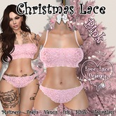 ::LL:: Christmas Lace Set // Pink