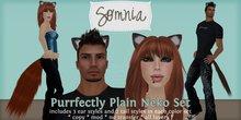 .: Somnia :. Purrfectly Plain Neko Set in Black Night