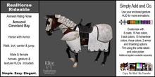 *E* RealHorse Rideable - Cleveland Bay Armored  [Add & Click]