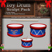 Christmas / Holiday Toy Drum  Sculpt Pack, Sculpted Drum, 2 Sculpty Maps & 10 Textures Full Perms
