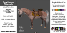 *E* RealHorse Rideable - Arabian Western  [Add & Click]