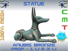 STATUE - ANUBIS BRONZE