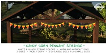 Sequel - Candy Corn Pennant String - Halloween Decoration
