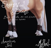 ~Mythril~ Sheepwool Boots: American Paint
