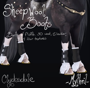 ~Mythril~ Sheepwool Boots: Clydesdale
