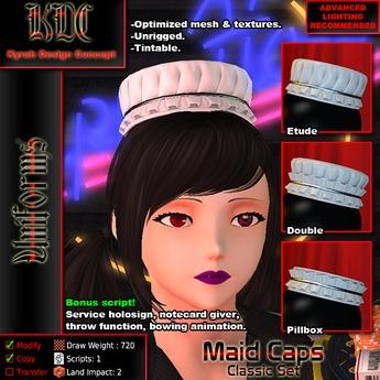 KDC Maid Caps - Classic set