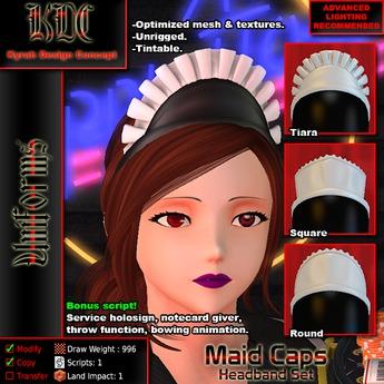 KDC Maid Caps - Headband set