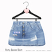 Gaia - Flirty Denim Skirt BLUE
