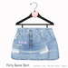 Gaia - Flirty Denim Skirt SKY