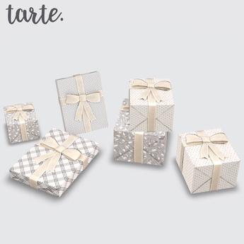 tarte. burlap christmas presents