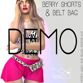 .KIMBRA. - BERRY SHORTS & BELT BAG [DEMO]