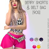 .KIMBRA. - BERRY SHORTS & BELT BAG [90s]