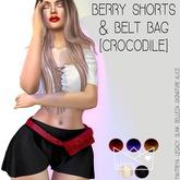 .KIMBRA. - BERRY SHORTS & BELT BAG [CROCODILE]