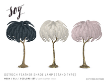 Soy. Ostrich Feather Shade Lamp [Stand] addme