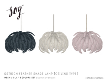 Soy. Ostrich Feather Shade Lamp [Ceiling] addme