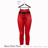 Gaia - Bossy Chain Pants RED