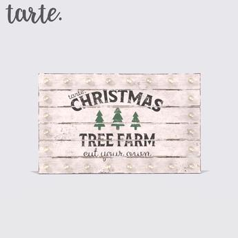 tarte. christmas tree farm sign