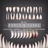 Fangs & Tusks Kit by Sweet Thing - Create your perfect custom look! Vampire, orc, troll, demon, any fantasy creature!