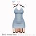 Gaia - Berry Harness Dress SKY