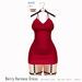 Gaia - Berry Harness Dress CHERRY