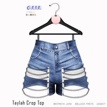 Gaia - Taylah Chain Shorts BLUE