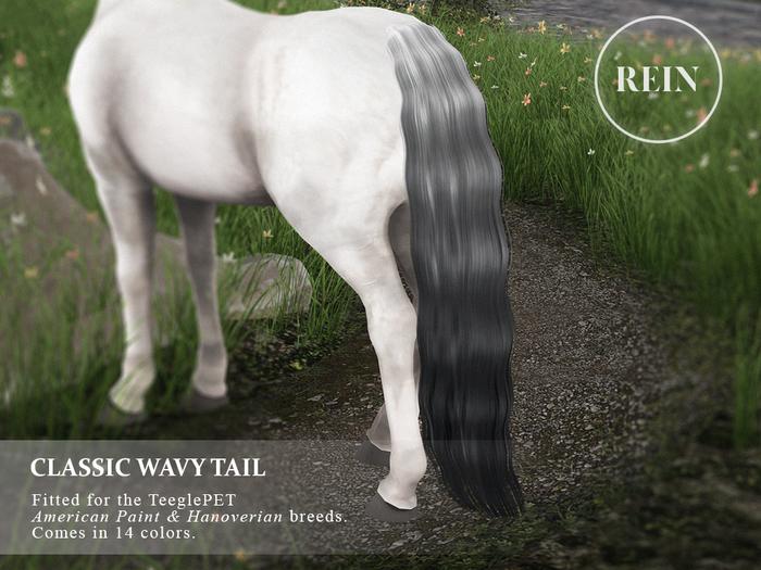 REIN - TeeglePet Classic Wavy Tail HANOVERIAN & AMERICAN PAINT