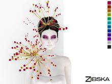 Zibska ~ Winterberries Colorchange headpiece and shoulder
